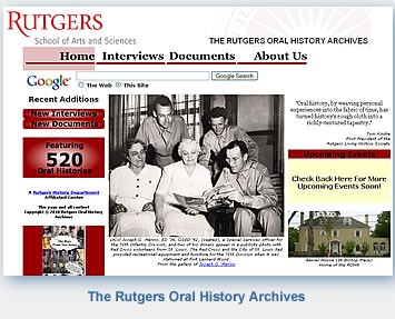 Rutgers Oral History Archives Oral History Interview