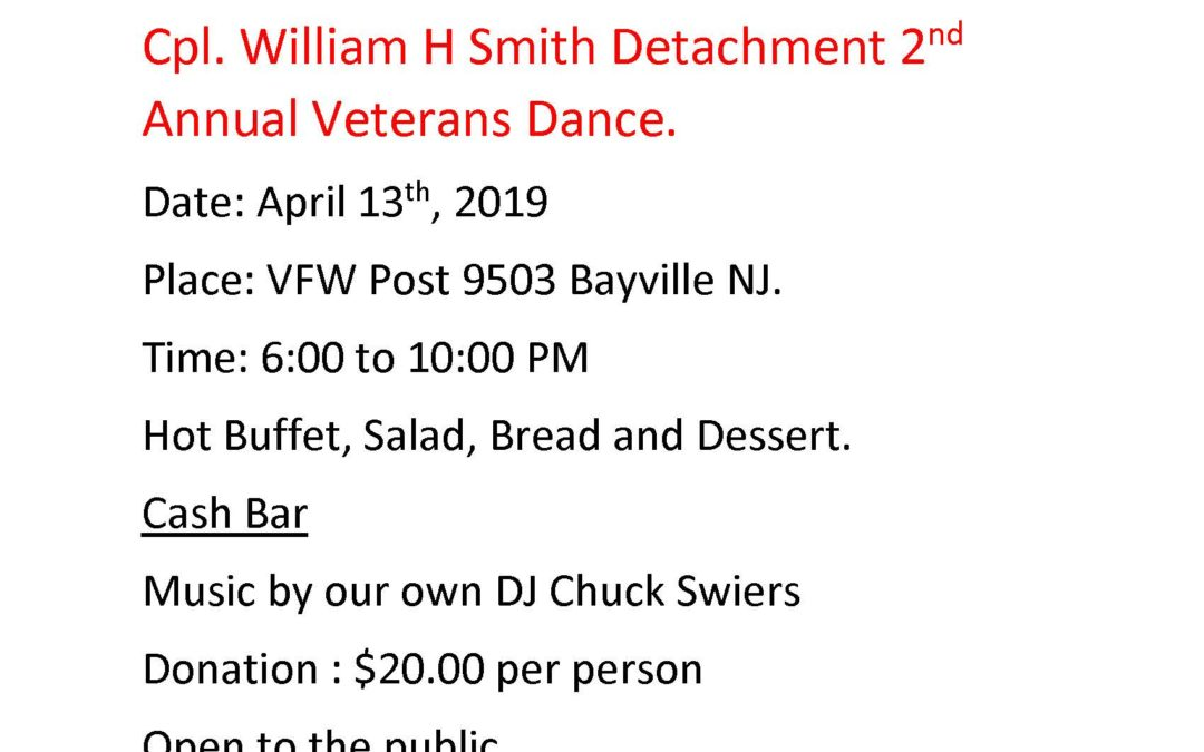 2019 Smith Detachment Dance