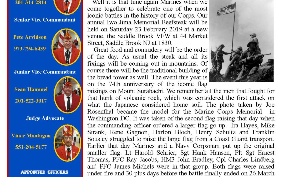 February 2019 Barker Detachment Newsletter