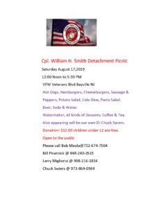 Smith Detachment Picnic @ VFW Veterans Blvd Bayville NJ | Berkeley Township | New Jersey | United States