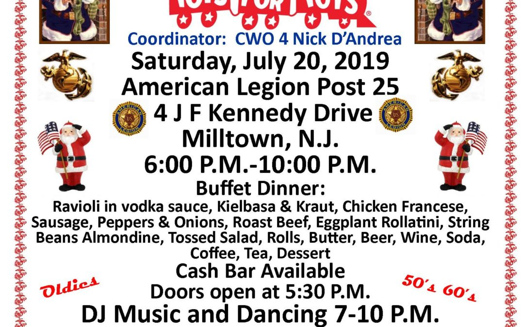 2019 Toys for Tots Christmas in July
