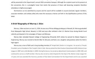 "3rd Annual ""Murray J. Sklar"" Role Model Award"