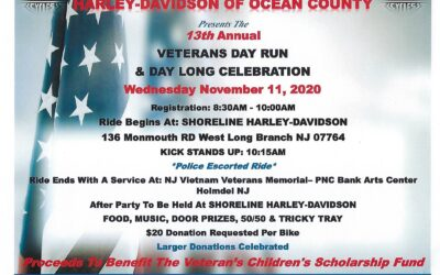 13th Annual Veterans Day Run at Shoreline Harely-Davidson