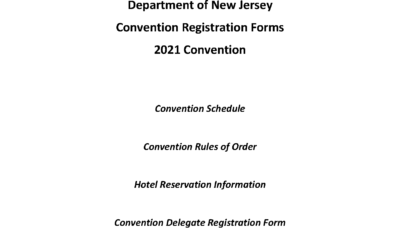 2021 Department Convention is June 24th, 25th and 26th