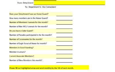 Monthly Detachment Report Template