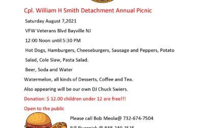 Cpl. William H Smith Detachment Annual Picnic